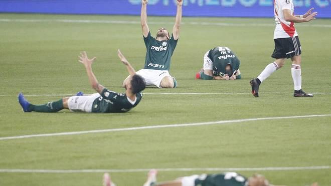 Der Jubel bei den Spielern von Palmeiras war nach dem Abpfiff grenzenlos