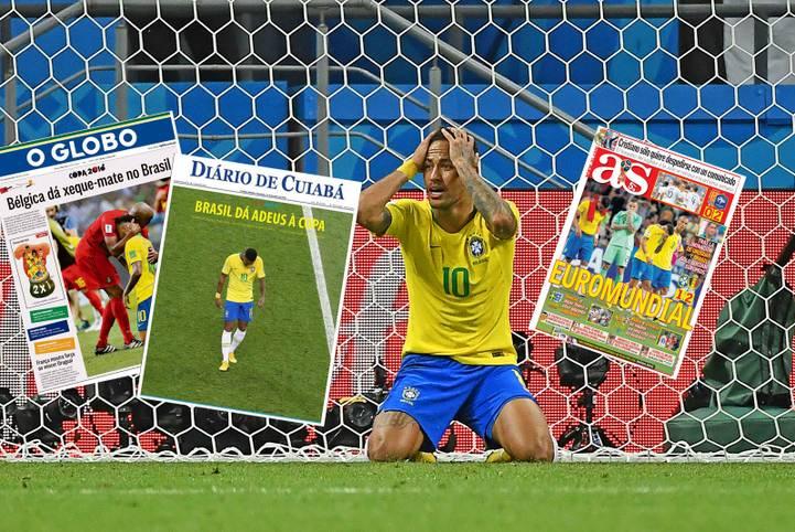 Brasiliens Presse ist nach dem WM-Aus gegen Belgien rat- und fassungslos, Neymar erntet Kritik. Belgien feiert dagegen seine neuen Helden - genauso wie Frankreichs Presse nach dem Sieg über Uruguay. SPORT1 zeigt internationale Pressestimmen