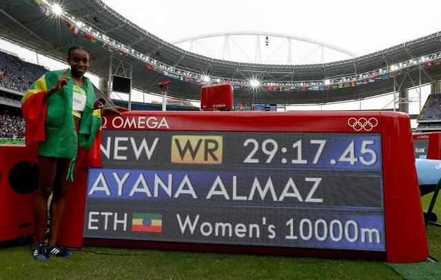 Almaz Ayana lief mit ihrer neuen Fabelzeit auch zu Gold bei den Olympischen Spielen 2016 in Rio de Janeiro