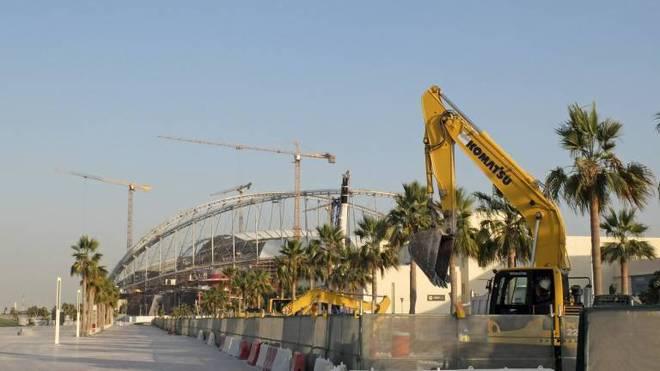 Bei den Bauarbeiten für die Fußball-WM 2022 in Katar soll es über 6.500 Tote gegeben haben