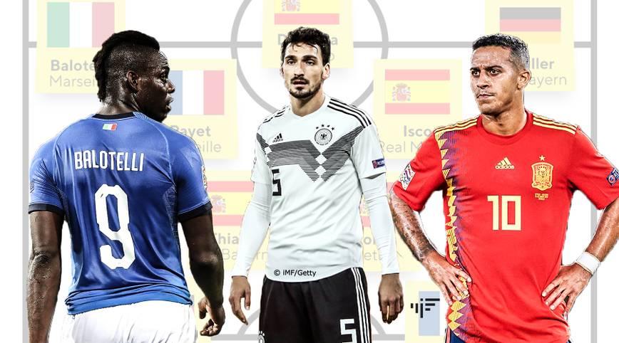 Zum Auftakt der Qualifikation für die EM 2020 fliegen zahlreiche Stars aus dem Kader ihres jeweiligen Nationalteams. Aus den prominentesten Aussortierten lässt sich sogar ein echtes internationales Top-Team zusammenstellen. SPORT1 zeigt die Top 11 der Aussortierten