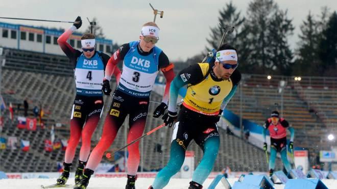 Martin Fourcade und Johannes Thingnes Bö kämpfen in Kontiolahti um den Sieg im Gesamtweltcup