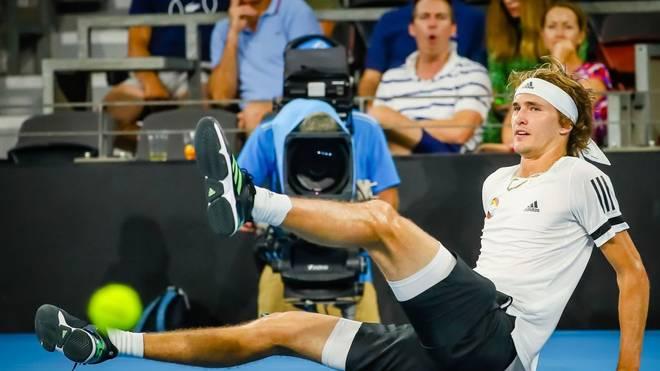 Alexander Zverev kassierte beim ATP Cup gegen Stefanos Tsitsipas eine heftige Abreibung