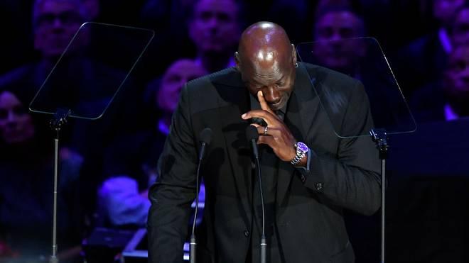 Michael Jordan kämpfte während seiner Rede immer wieder mit den Tränen