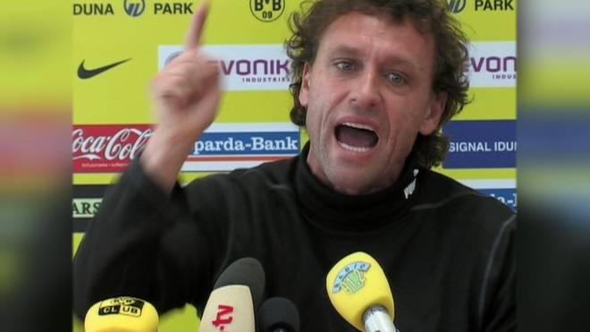 """""""Alles nur Bla Bla Bla"""": Die PK von Thomas Doll im April 2008 gehört zu einer der legendären Wutreden in der Bundesliga-Geschichte"""
