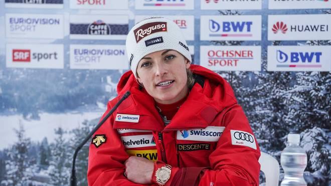 Lara Gut-Behrami schied früh aus im Riesenslalom von Lenzerheide