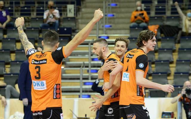 Die Berlin Recycling Volleys stehen in den Playoffs im Halbfinale