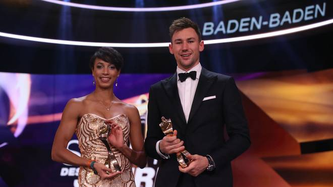 Niklas Klaus (r.) und Malaika Mihambo wurden als Sportler und Sportlerin des Jahres ausgezeichnet