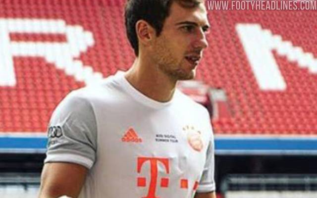 Leon Goretzka trägt hier offenbar das neue Trikot des FC Bayern