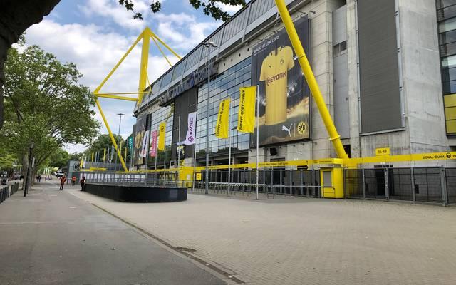 SPORT1-Reporter Lukas Rott liefert Eindrücke rund um das Stadion in Dortmund
