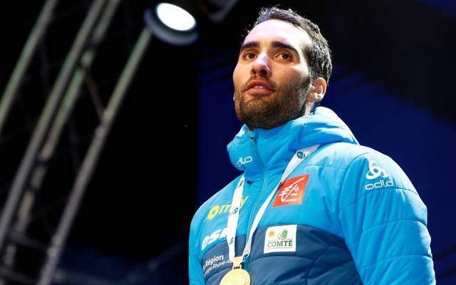 ANTHOLZ ANTERSELVA, ITALY - FEBRUARY 19: Martin Fourcade of France wins the gold medal during the IBU Biathlon World Championships Men's 20km on February 19, 2020 in Antholz Anterselva, Italy. (Photo by Christophe Pallot/Agence Zoom/Getty Images)