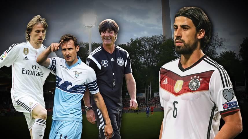Sami-Allstars gegen Khediras Eleven: Sami Khedira (r.) versammelt bei seinem Benefizspiel in Stuttgart (So. ab 16.30 Uhr LIVE im TV auf SPORT1) zahlreiche Stars und Legenden auf dem Platz. SPORT1 zeigt, wer alles dabei ist