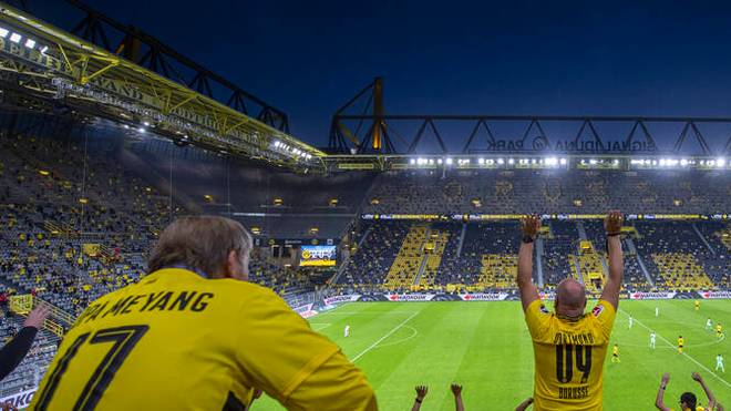 Beim BVB durften am 1. Spieltag wieder rund 9.000 Fans in Stadion