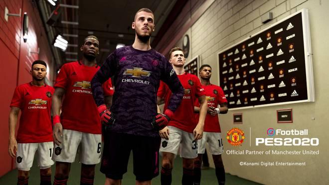 Scott McTominay (2.v.r.) wird für Manchester United das Cover von PES 2020 zieren