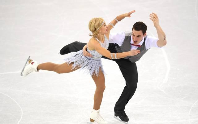 Aljona Savchenko und Bruno Massot erwischten keinen guten Start bei Olympia