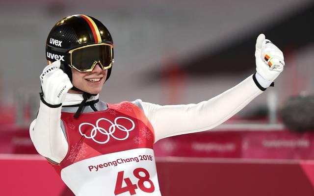 Andreas Wellinger war im Olympia-Wettkampf von der Normalschanze nicht zu schlagen