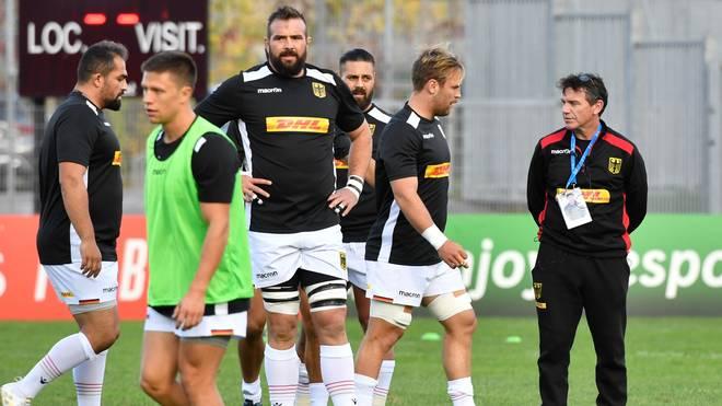 Mike Ford (r.) ist seit 2018 Trainer der deutschen Rugby-Nationalmannschaft
