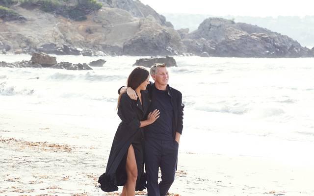 Bastian Schweinsteiger und Ehefrau Ana Ivanovic am Strand von Mallorca