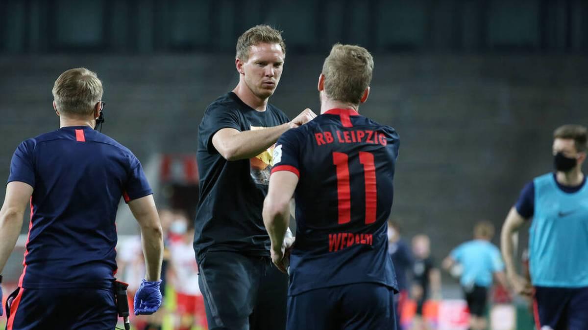 Julian Nagelsmann (l.) und Timo Werner pflegen ein gutes Verhältnis