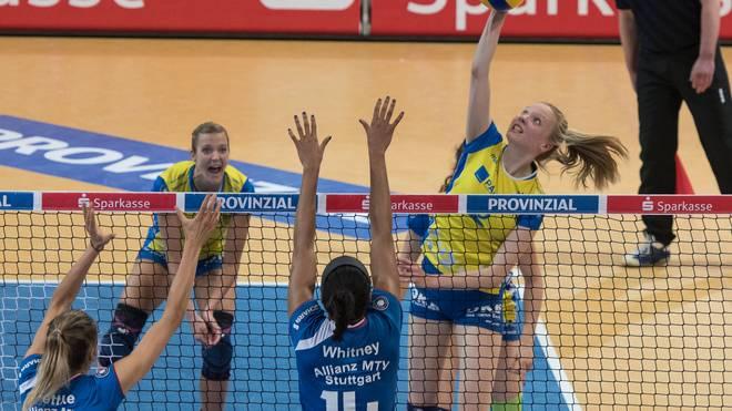 Im VBL-Finale 2017 trafen Schwerin und Stuttgart aufeinander