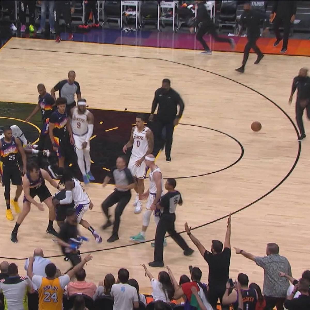 Rangelei nach Foul an LeBron James: Suns gewinnen hitziges Duell