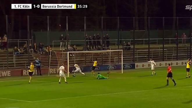 Die Reservemannschaft des 1. FC Köln schlägt die zweite Mannschaft des BVB