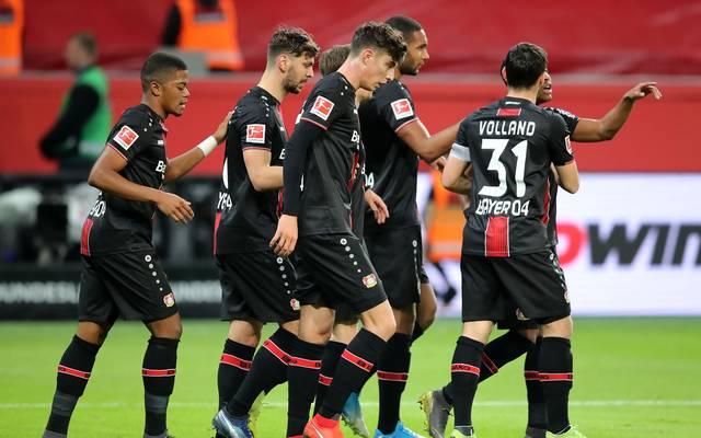 Bayer Leverkusen feiert Tor Nummer eins durch Kai Havertz