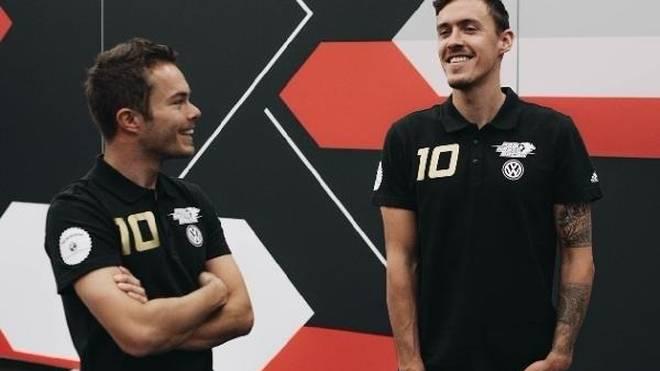 Benjamin Leuchter (links) wird für das Team von Fußballer Max Kruse fahren