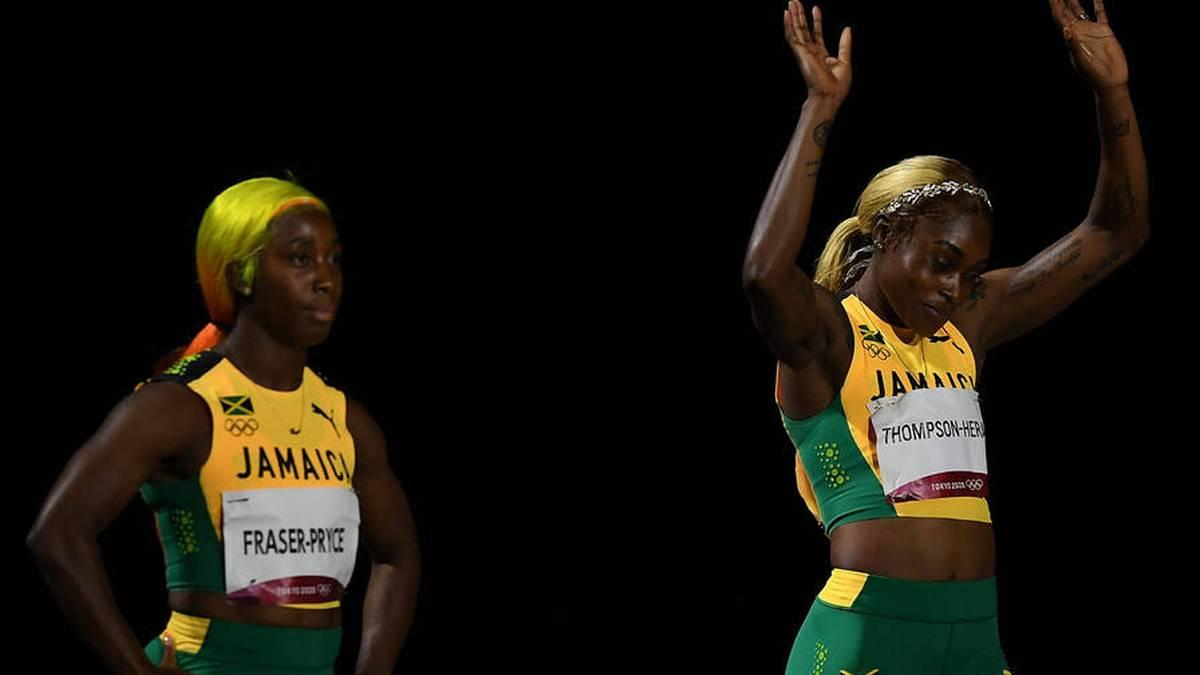 Shelly-Ann Fraser-Pryce wirkte nach dem 100-Meter-Sieg von Elaine Thompson-Herah missgünstig