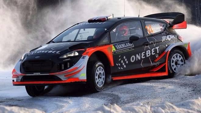 Mads Östberg fuhr in Schweden erstmals den neuen Ford Fiesta WRC 2017