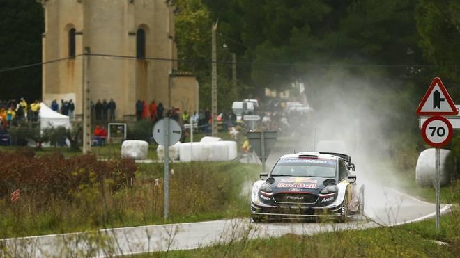 Sebastien Ogier liegt bei der Rallye Katalonien derzeit auf Platz zwei