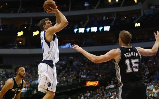 Dirk Nowitzki erzielte gegen die Spurs 19 Punkte