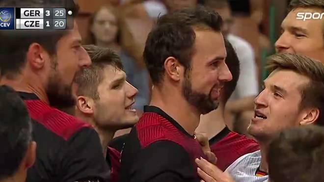 Georg Grozer steht mit der deutschen Volleyball-Nationalmannschaft im EM-Halbfinale