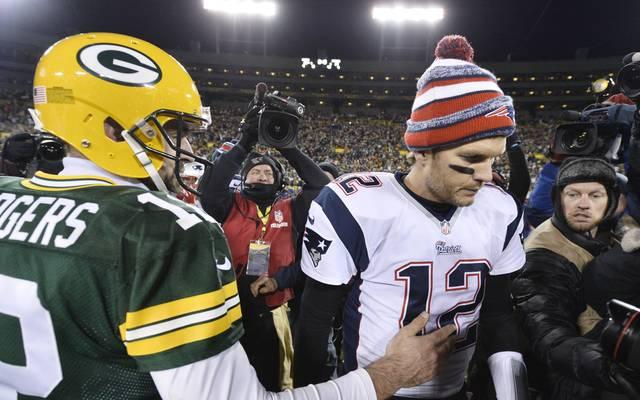 Aaron Rodgers und Tom Brady