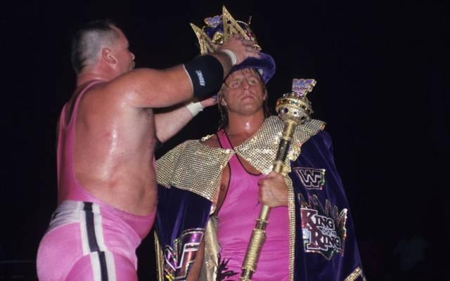 "Owen Hart (r., mit Schwager Jim Neidhart) wurde 1994 bei WWE ""King of the Ring"""