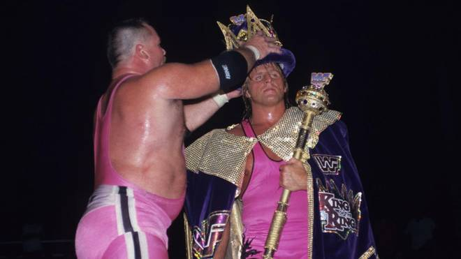 "Owen Hart (r., mit Schwager Jim Neidhart) wurde 1994 bei WWE ""King of the Ring"""