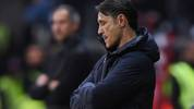 FRANKFURT AM MAIN, GERMANY - NOVEMBER 02: Head coach Niko Kovac of Muenchen reacts during the Bundesliga match between Eintracht Frankfurt and FC Bayern Muenchen at Commerzbank-Arena on November 02, 2019 in Frankfurt am Main, Germany. (Photo by Alex Grimm/Bongarts/Getty Images)