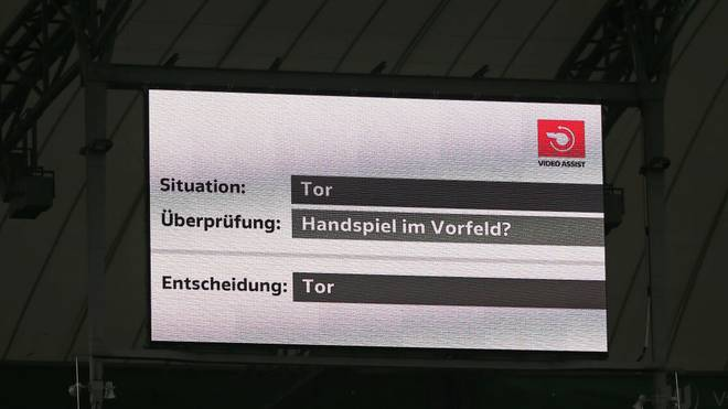 Der DFB hat den VAR-Einsatz analysiert
