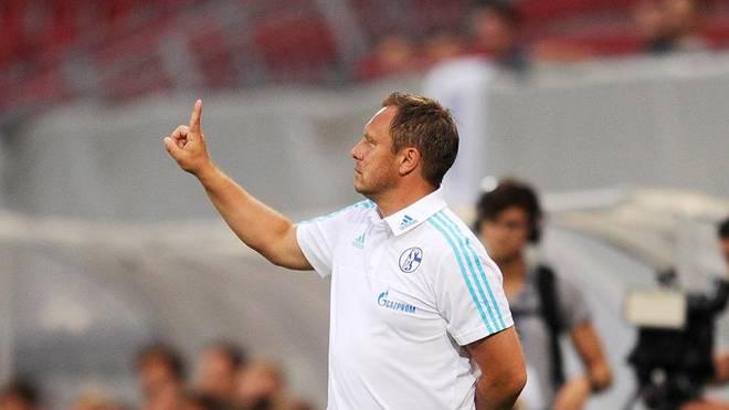 Andre Breitenreiter bei seinem ersten Spiel für den FC Schalke 04