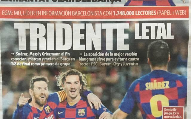 Die Titelseite der Mundo Deportivo