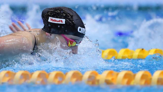 BERLIN, GERMANY - OCTOBER 13: Angelina Koehler of Germany competes in the Womens 100m Butterfly final race during day three of the FINA Swimming World Cup Berlin at Schwimm- und Sprunghalle im Europasportpark (SSE) on October 13, 2019 in Berlin. (Photo by Ronny Hartmann/Getty Images)