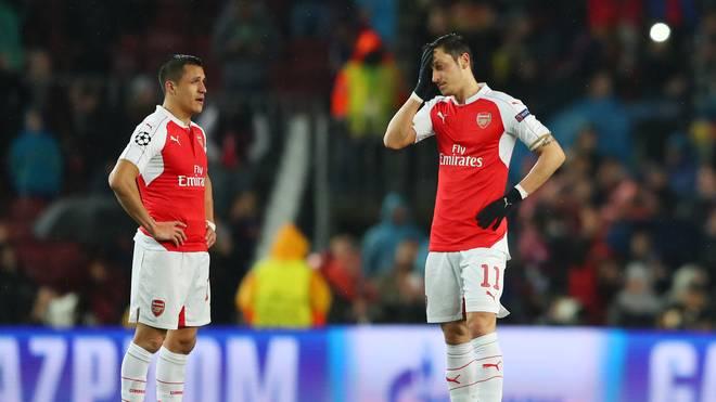Alexis Sanchez (links) und Mesut Özil leiten die Offensive des FC Arsenal