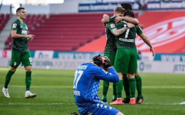 Robin Zentner verschuldete gegen Augsburg ein Gegentor