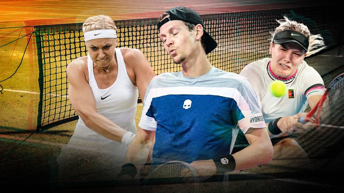 Die abgestürzten Tennis-Stars: Sabine Lisicki, Tomas Berdych und Eugenie Bouchard