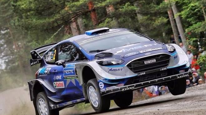 Ott Tänak war zum Auftakt der Rallye Finnland der Schnellste