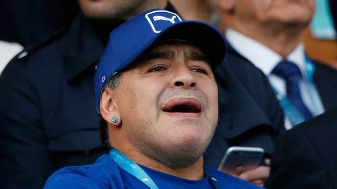Diego  Maradona kann sich eine WM mit 48 Teams gut vorstellen
