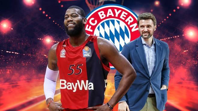 Marko Pesic (r.) erklärt den Bayern-Coup mit Greg Monroe (l.)