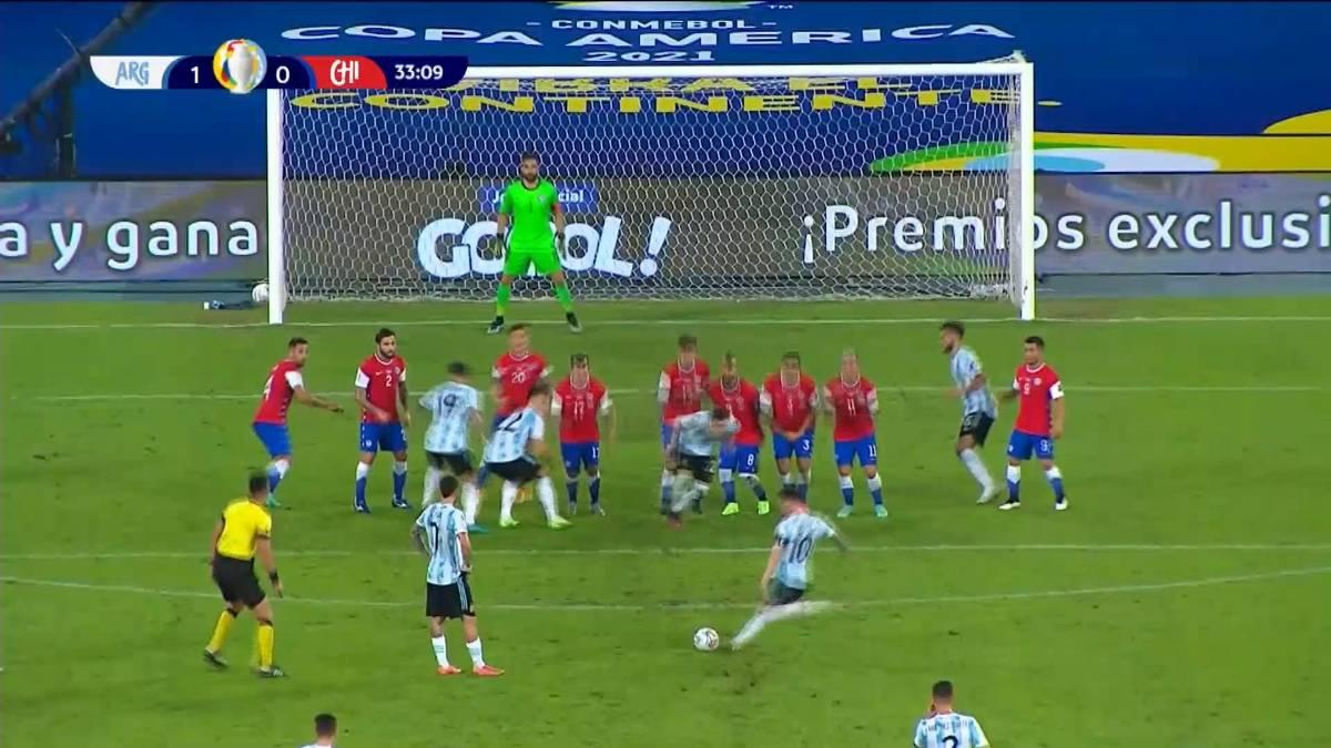 Argentinien kommt im Topspiel der Copa América gegen Chile nicht über ein 1:1 hinaus - obwohl Lionel Messi für einen Zauber-Freistoß sorgt.