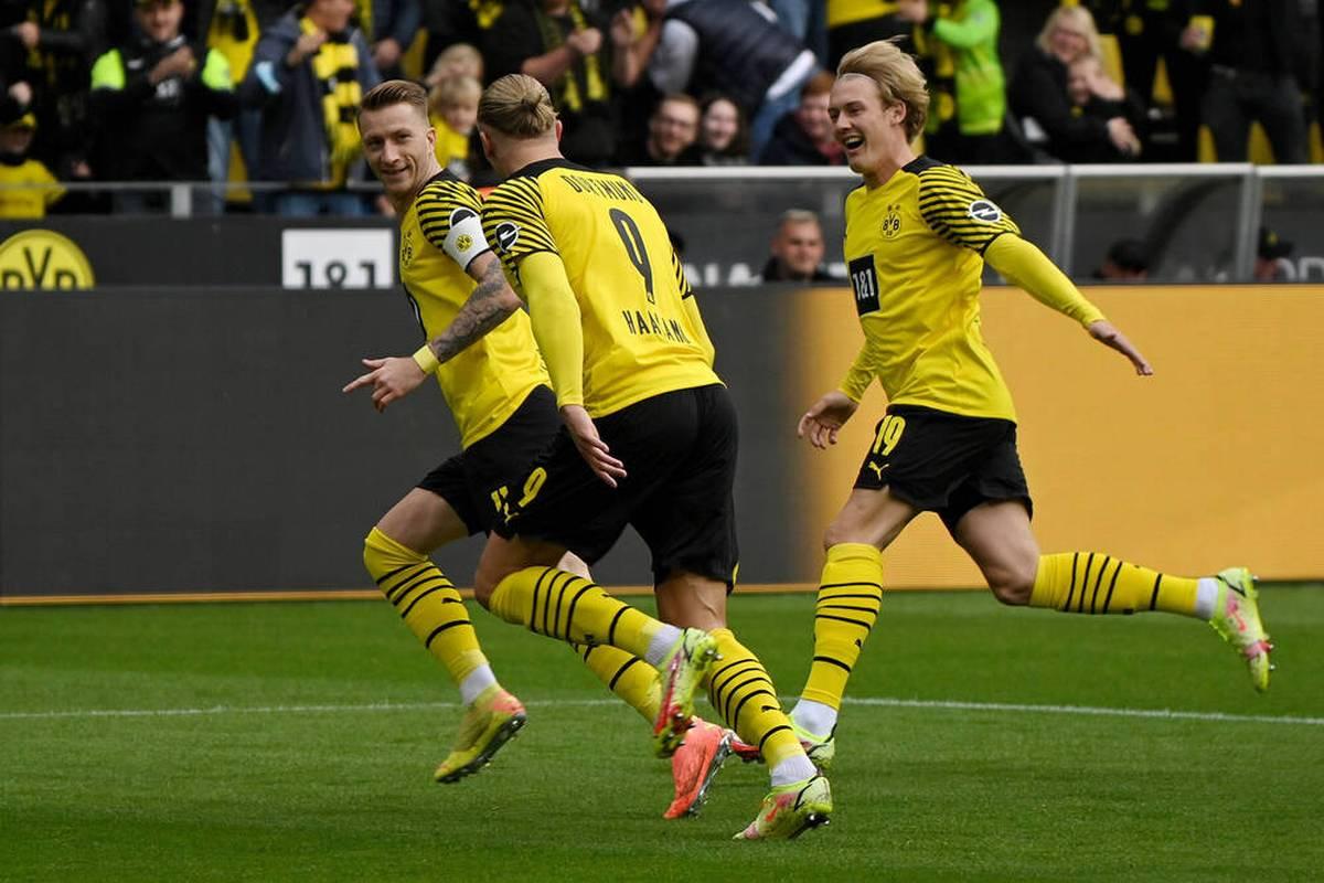 Borussia Dortmund erobert mit einem Heimsieg die Tabellenspitze der Bundesliga. Die Protagonisten sind der Kapitän Marco Reus und Comebacker Erling Haaland.