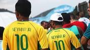 Trotz Verletzung ist Neymar auch in Belo Horizonte allgegenwärtig